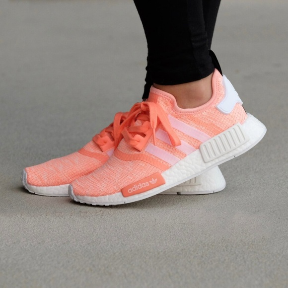 outlet store e45b7 ec5f8 adidas Shoes - Adidas NMD R1 Sun Glow Peach Orange Women s 9.5